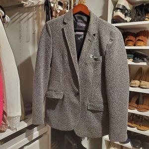 Zara Men's Checkered Blazer with pocket square
